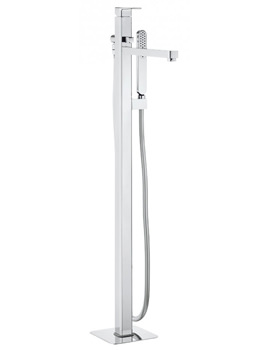 Crosswater Atoll Floor Standing Chrome Bath Shower Mixer Tap With Kit