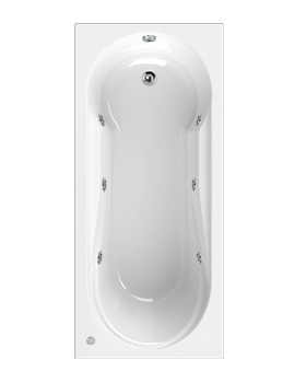 Aquaestil Modena 1700 x 750mm Whirlpool Bath With 6 Jets