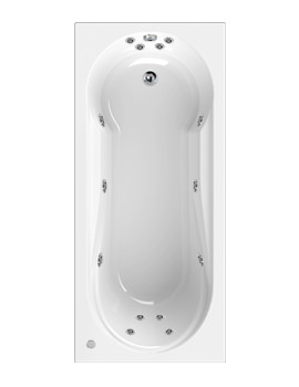 Aquaestil Modena 1700 x 750mm Whirlpool Bath With 14 Jets