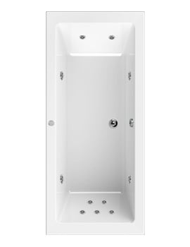 Aquaestil Plane 1700 x 700mm Whirlpool Bath With 11 Jets