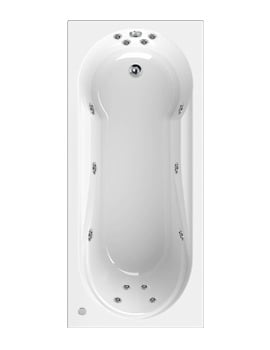 Aquaestil Modena 1800 x 800mm Whirlpool Bath With 14 Jets