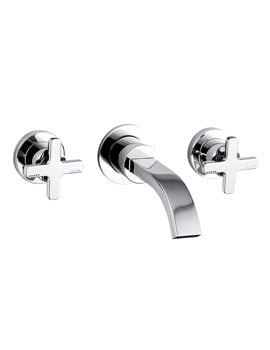 Abode Serenitie Wall Mounted 3 Tap Hole Basin Mixer Tap Chrome