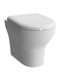VitrA Zentrum Back To Wall WC Pan With Toilet Seat