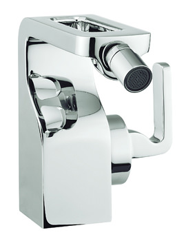 Crosswater Kelly Hoppen Zero 1 Monobloc Chrome Bidet Mixer Tap With Waste