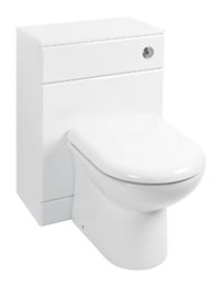 Beo High Gloss White 500 x 330mm Back To Wall WC Unit