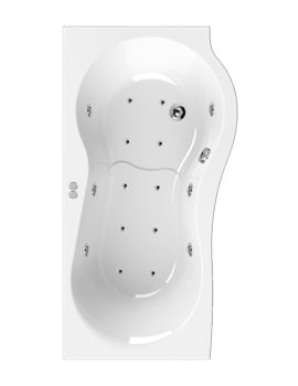 Aquaestil Iris 1500mm Right Handed Whirlpool Bath With 16 Jets