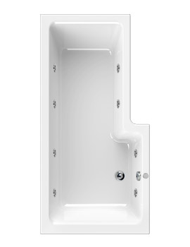 Aquaestil Thames 1700mm Left Handed Whirlpool Bath With 8 Jets