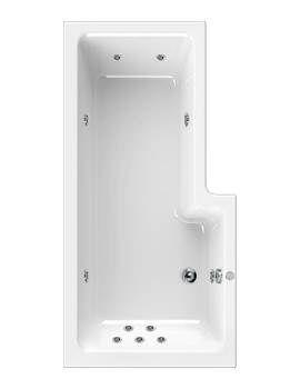 Aquaestil Thames 1700mm Left Handed Whirlpool Bath With 11 Jets