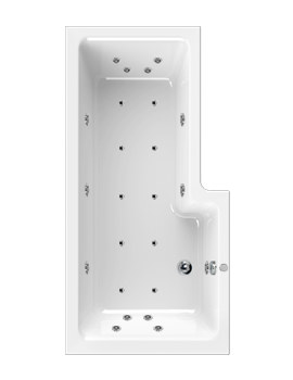 Aquaestil Thames 1700mm Left Handed Whirlpool Bath With 24 Jets