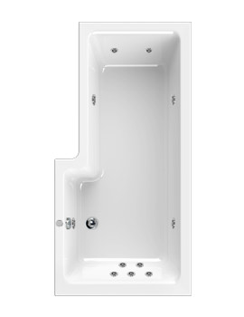 Aquaestil Thames 1700mm Right Handed Whirlpool Bath With 11 Jets