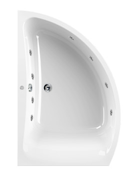 Aquaestil Comet 1500 x 1000mm Left Handed 8 Jets Whirlpool Bath