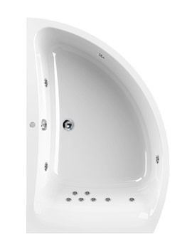 Aquaestil Comet 1500 x 1000mm Left Handed 11 Jets Whirlpool Bath