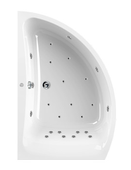 Aquaestil Comet 1500 x 1000mm Left Handed 24 Jets Whirlpool Bath