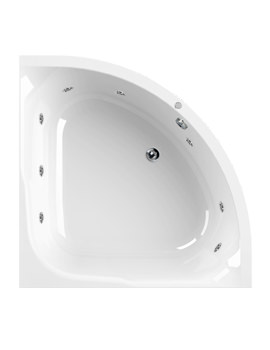 Aquaestil Satellite 1200mm Corner Whirlpool Bath With 8 Jets