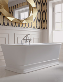 Imperial Windsor KEW 1690 x 760mm No Tap Hole Freestanding Bath