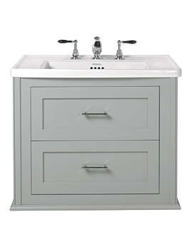 Imperial Radcliffe Thurlstone Grey Ecru Wall Hung Vanity Unit