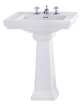 Imperial Astoria Deco 640mm Tall Large Basin With Tall Pedestal