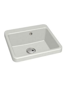 Abode Matrix GR10 Single Bowl Inset Or Undermount White Granite Sink