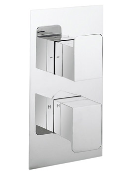 Crosswater KH Zero 3 Thermostatic Portrait Shower Valve With 2 Way Diverter