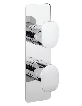 Crosswater KH Zero 2 Thermostatic Portrait Shower Valve With 2 Way Diverter