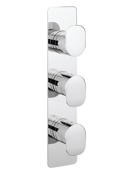 Crosswater Kelly Hoppen Zero 2 Thermostatic 3 Control Portrait Valve