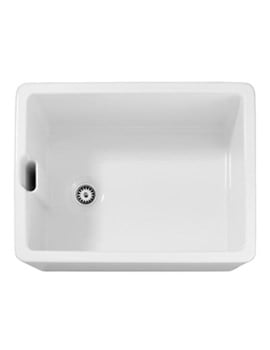 Abode Belfast 1.0 Bowl White Ceramic Undermount Or Inset Kitchen Sink