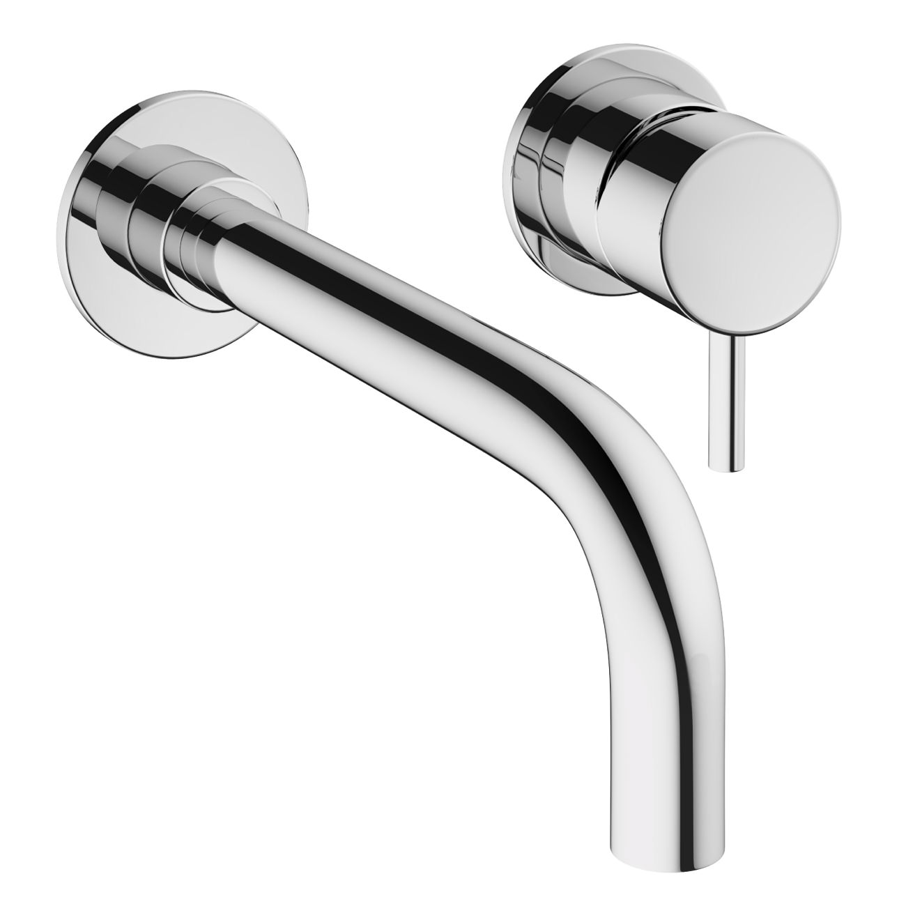 Crosswater Mike Pro Wall Mounted Chrome 2 Hole Basin Mixer Tap