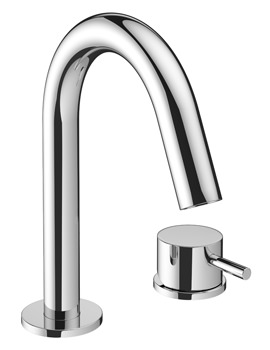 Crosswater Mike Pro Deck Mounted Chrome 2 Hole Basin Mixer Tap
