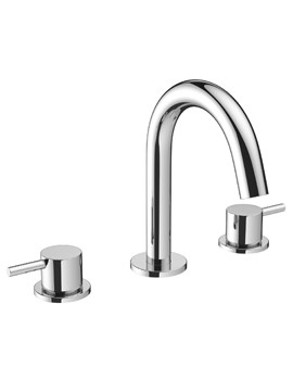Crosswater Mike Pro Deck Mounted Chrome 3 Hole Basin Mixer Tap