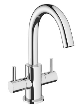 Crosswater Mike Pro Twin Lever Monobloc Chrome Basin Mixer Tap