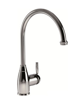 Abode Brompton Single Lever Kitchen Tap Pewter