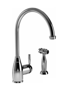 Abode Brompton Chrome Single Lever Kitchen Tap With Handspray