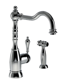 Abode Bayenne Single Lever Mixer Tap With Integrated Handspray Chrome