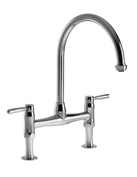 Abode Brompton Chrome Dual Lever Bridge Mixer Tap
