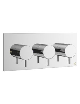 Crosswater Mike Pro Thermostatic Chrome Landscape Shower Valve