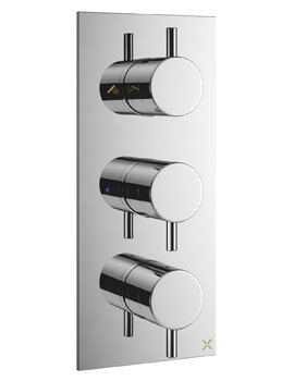 Crosswater Mike Pro Thermostatic Chrome Portrait Bath Shower Valve