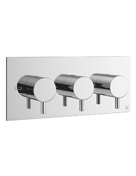 Crosswater Mike Pro Thermostatic Chrome Landscape Bath Shower Valve