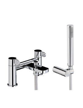 Abode Bliss Deck Mounted Bath Shower Mixer Tap With Shower Handset