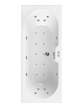 Aquaestil Calisto 1700 x 700mm Whirlpool Bath With 24 Jets