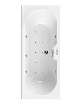 Aquaestil Calisto 1700 x 750mm Whirlpool Bath With 16 Jets