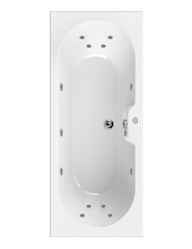 Aquaestil Calisto 1800 x 800mm Whirlpool Bath With 14 Jets