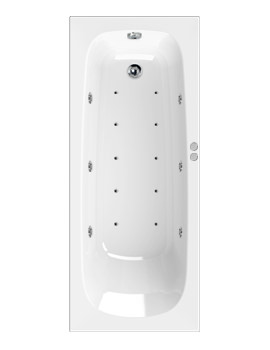 Aquaestil Mercury Eco 1700 x 700mm Whirlpool Bath With 16 Jets