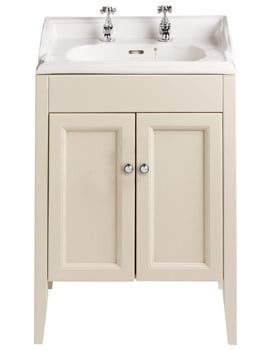 Heritage Caversham Oyster Double Door Vanity Unit For Dorchester Square Basin