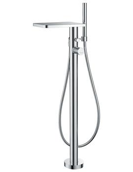 Flova Annecy Floor Standing Bath-Shower Mixer Tap With Handset Kit