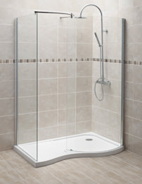 Balterley 1400 x 906mm Curved Walk-In Shower Enclosure