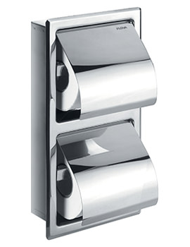Flova Gloria Concealed Double Toilet Roll Holders