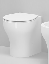 Azzurra Vera Mini 480mm Projection Floor Standing Back-To-Wall WC Pan