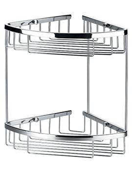 Flova Rack Brass 205 x 205mm Double Corner Basket