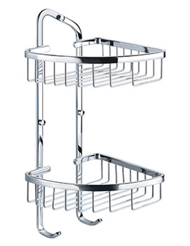 Flova Rack Brass Double Basket