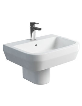 Britton Curve S30 60cm Wash Basin And Round Semi Pedestal